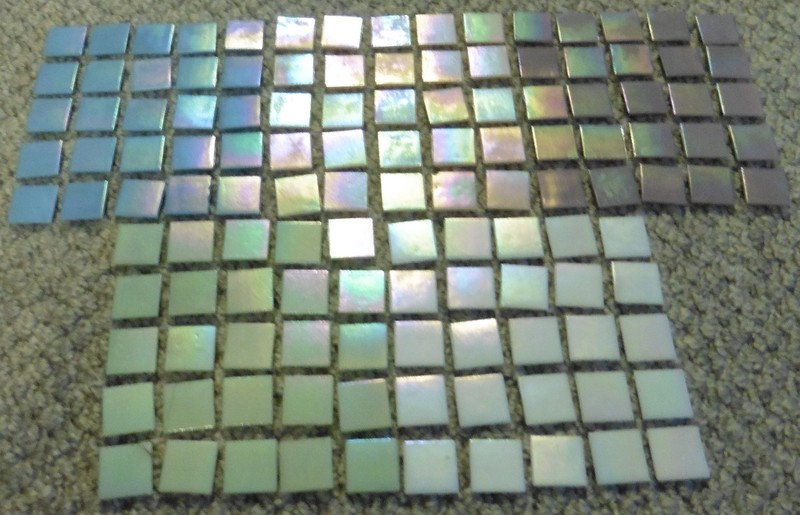 125 Pale Iridescent 20mm Vitreous Tiles Trade Me