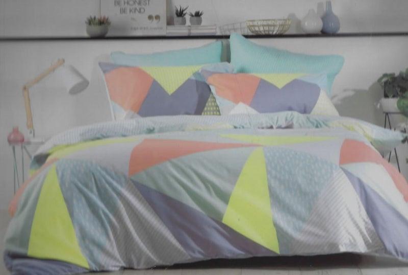 Sale Pastel Colours Geometric Design Duvet Cover Set Queen Trade Me