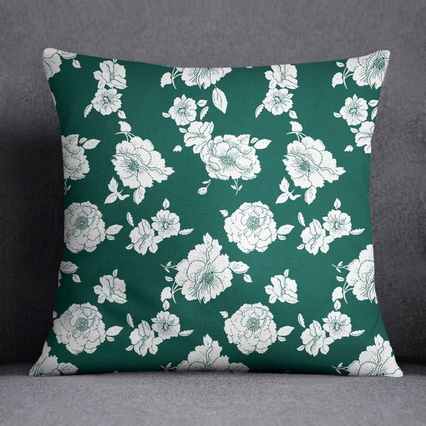 Terrific S4Sassy Home Decor Floral Print Indian Decorative Sofa Satin Cushion Cover Ncnpc Chair Design For Home Ncnpcorg