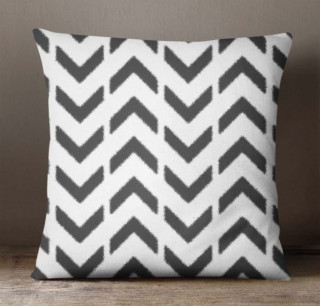 S4Sassy Ikat Printed Pillow Case Home Decorative Black Sofa Square Cushion Cover