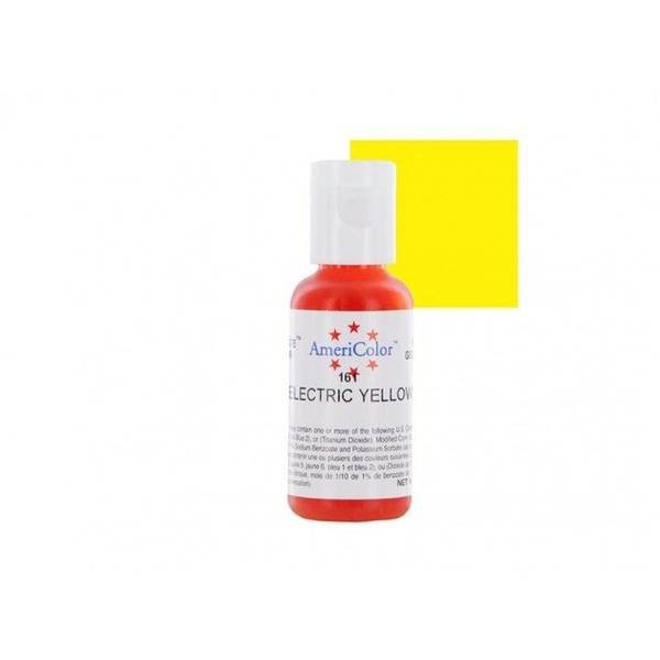 Americolor Gel Food Colouring - Electric Yellow   Trade Me