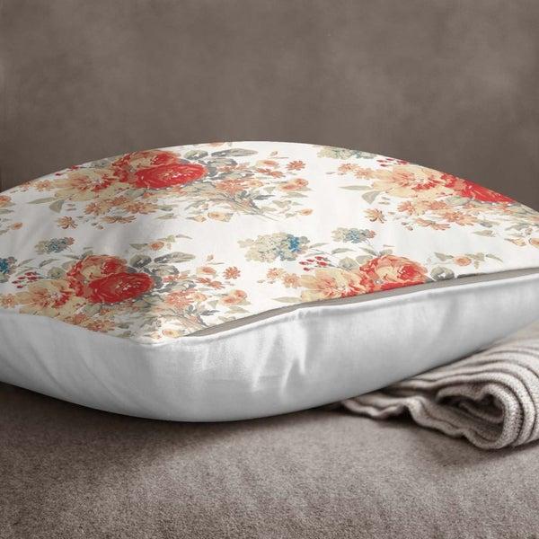 Wondrous S4Sassy Indian Home Decor White Throw Sofa Pillow Cover Floral Print Pillow Case Ncnpc Chair Design For Home Ncnpcorg