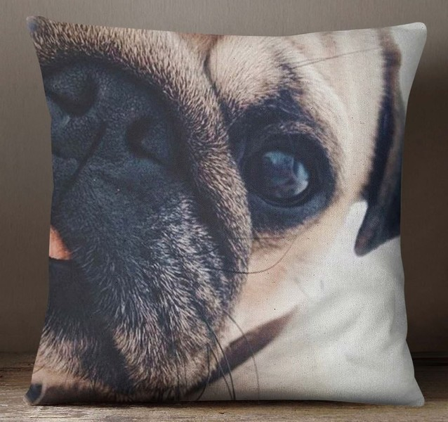 S4Sassy Multicolor Cushion Cover Pug Dog Face Digital PrintPillow ... cdd11e0523c1