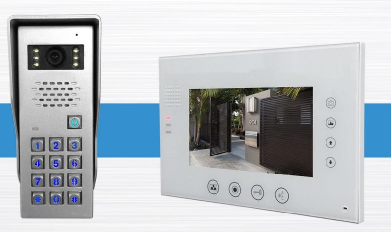 Color Video Intercom System with codepad for gate station A8