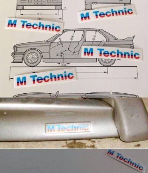 Bmw E30 M Tech Mtechnik M Body Kit Sticker Decal E24 E28 E34 Trade Me