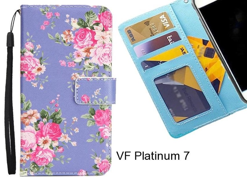 new styles f4bc9 f503a VF Platinum 7 case 3 card leather wallet case printed ID