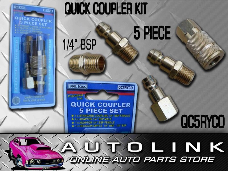 AIR FITTING QUICK SET COUPLING 5 PIECE SET 1/4 BSP RYCO
