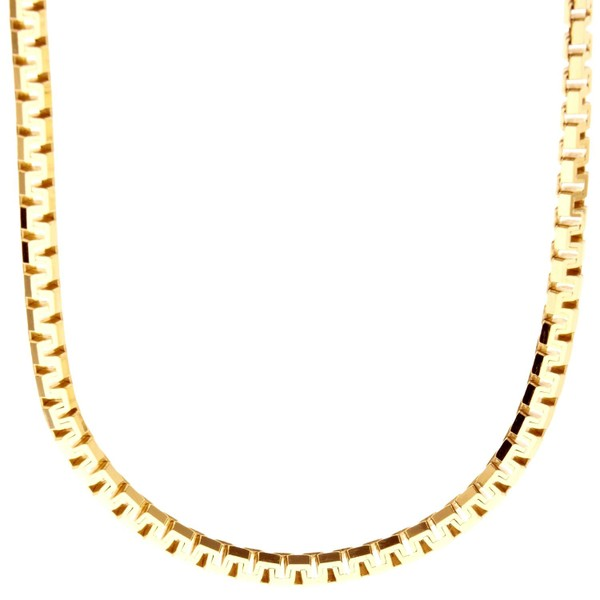 925 Sterling Silver Chain - VENETIAN 4,5mm gold