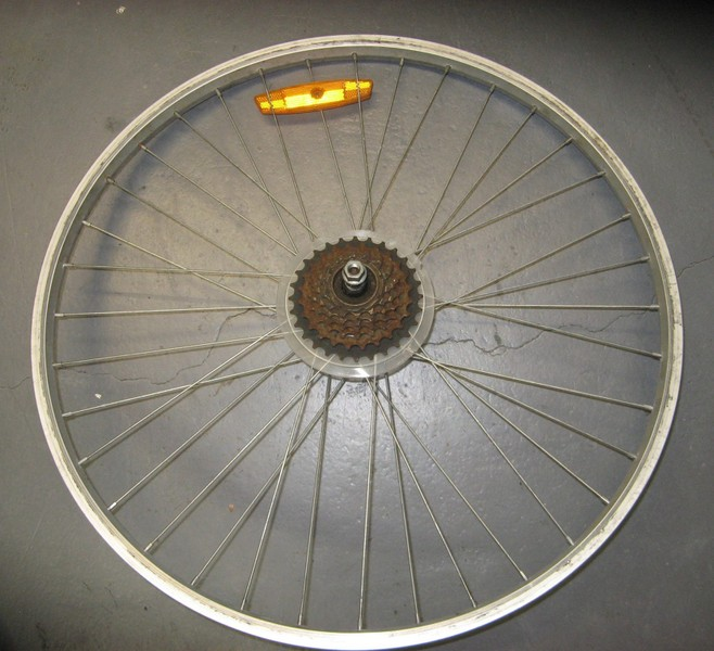 26'' alloy MTB rear wheel