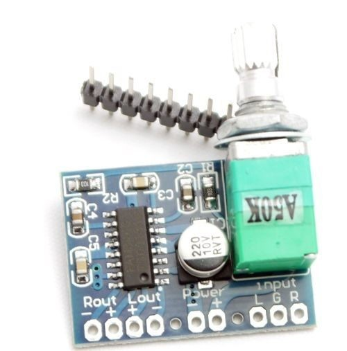 Amplifier Board Stereo 3W With Volume Control