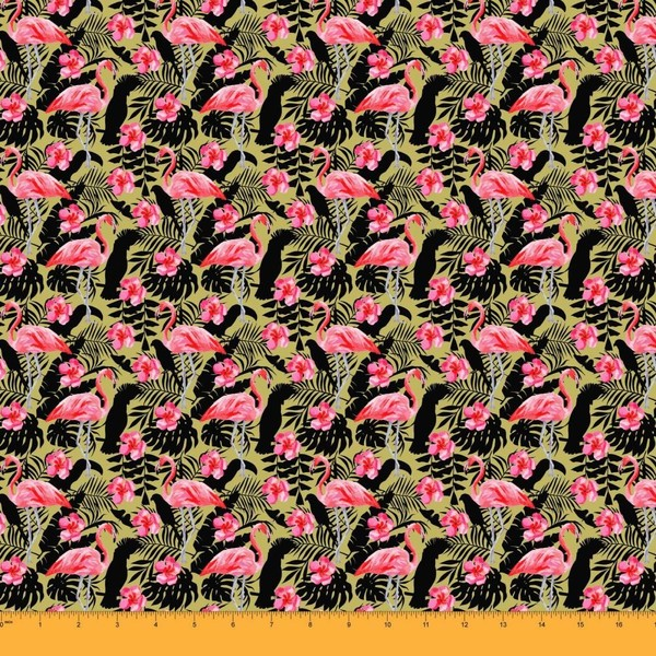 Fabric 65 GSM Dog Print 44 Inches Wide Sewing Material 1 Yard