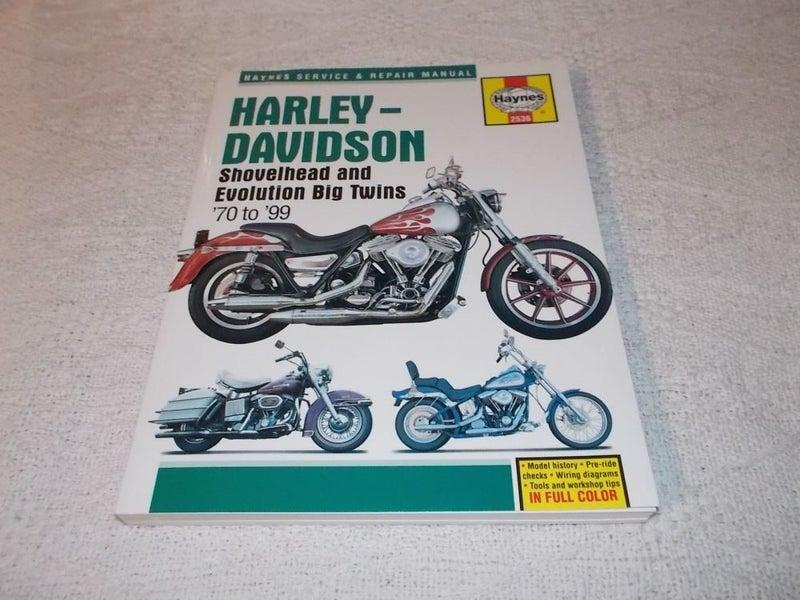 Harley Davidson Shovelhead and Evolution Big Twins Haynes ... on
