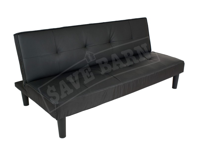 modern sofa bed couch 1 7m black pvc trade me rh trademe co nz Sofa Beds for Small Spaces Futon Sofa Bed