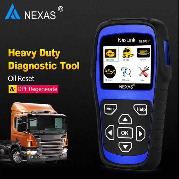 NEXAS Truck OBD2 HD Diagnostic Scanner with DPF & Oil Reset NL102