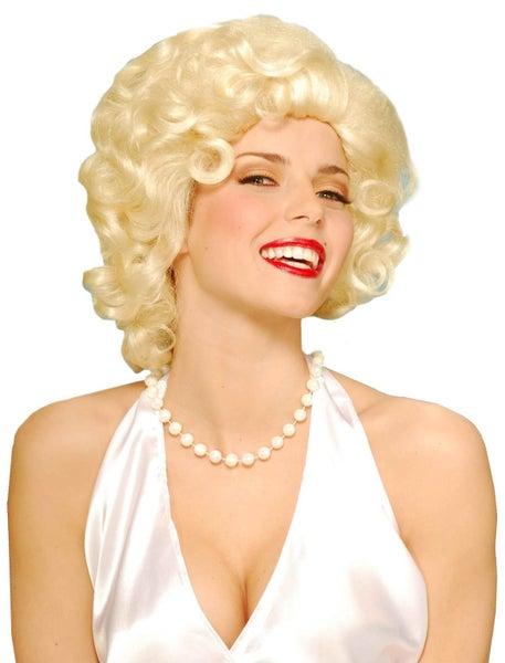 Blonde Marilyn Monroe 50s Women Costume Wig  a76ea149eb