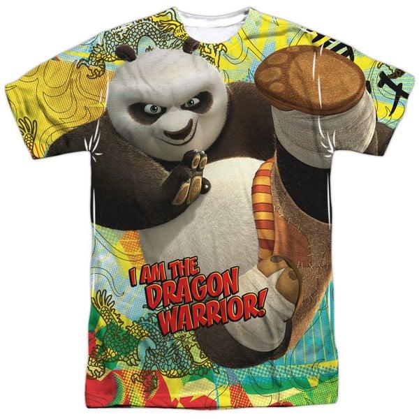 8528e5f3 Kung Fu Panda Dragon Warrior (Front Back Print) Mens Sublimation Polyester  Shirt | Trade Me