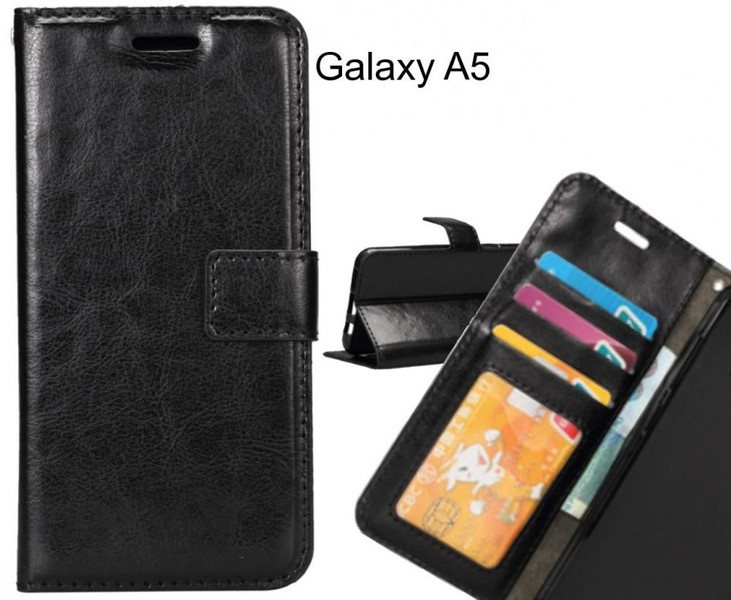 detailed look 0b062 41f1e Galaxy A5 case Wallet Leather Magnetic Smart Flip Folio Case