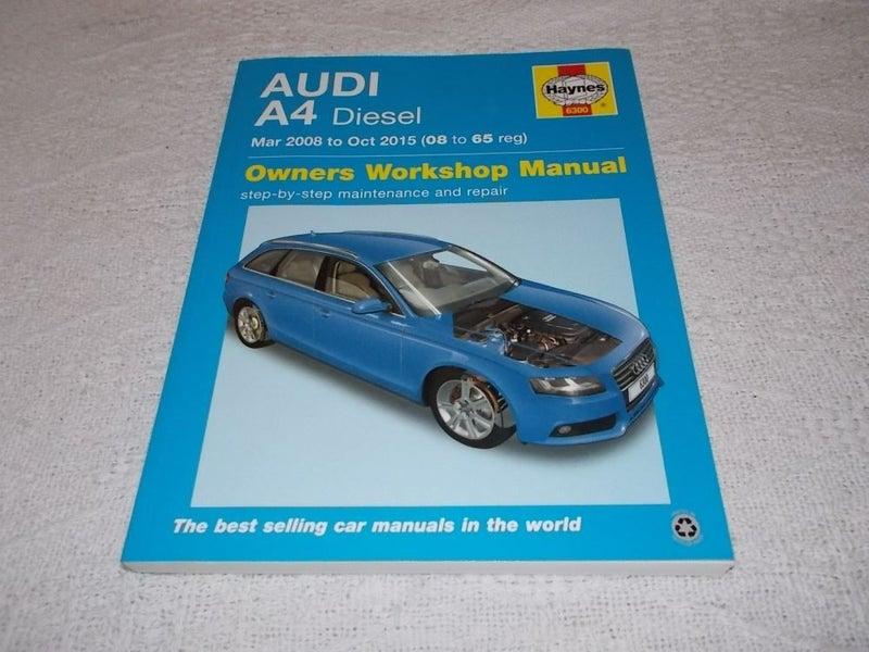 audi a4 2008 workshop manual