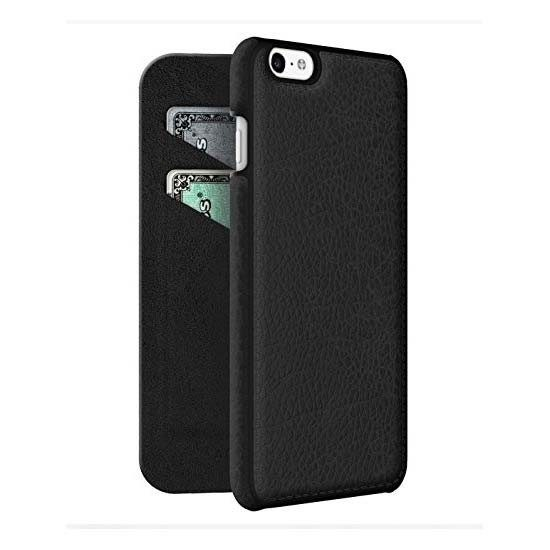 on sale 39a69 4cdc1 ADOPTED LEATHER APPLE IPHONE 6 PLUS / 6S PLUS PROTECTIVE WALLET CASE COVER  BLACK