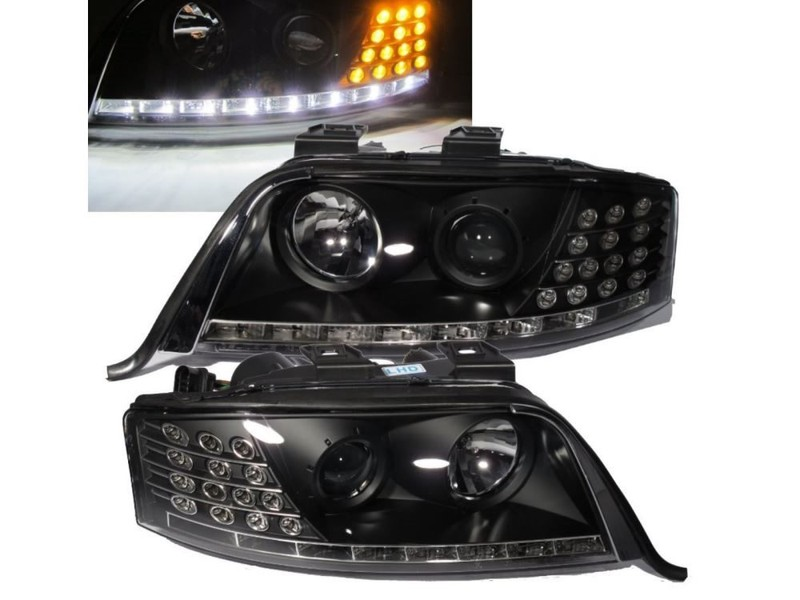 A6 A6s6 C5 4b 97 01 Projector R8look Headlight Wo Motor Black For