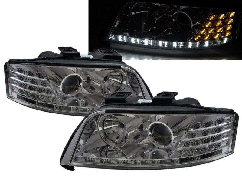 A6s6 C5 4b 97 01 Projector R8look Headlight Wo Motor Chrome For