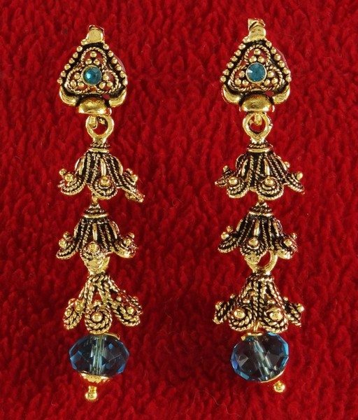 Engagement & Wedding Bollywood Goldtone Traditional New Dangle Earrings Bridal Women Jewellery Bridal & Wedding Party Jewelry