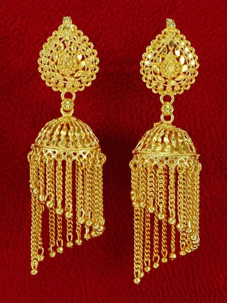 d478f22ad Indian Bollywood Gold Plated Jhumka Earring Set Ethnic Designer women  Jewelry | Trade Me
