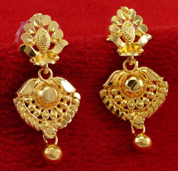 Indian Traditional Gold Plated Party Stud Earring Set Bollywood