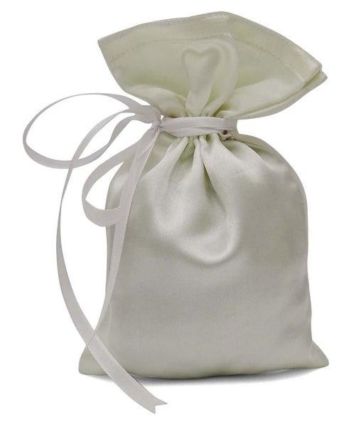 Off White 50 Pcs Satin Drawstring Favor Bag 4 X6 5
