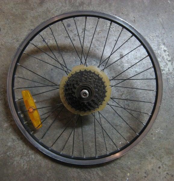 20'' alloy MTB rear wheel