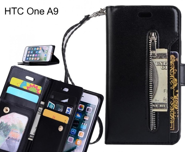 online store 8c916 02801 HTC One A9 case multi functional wallet case