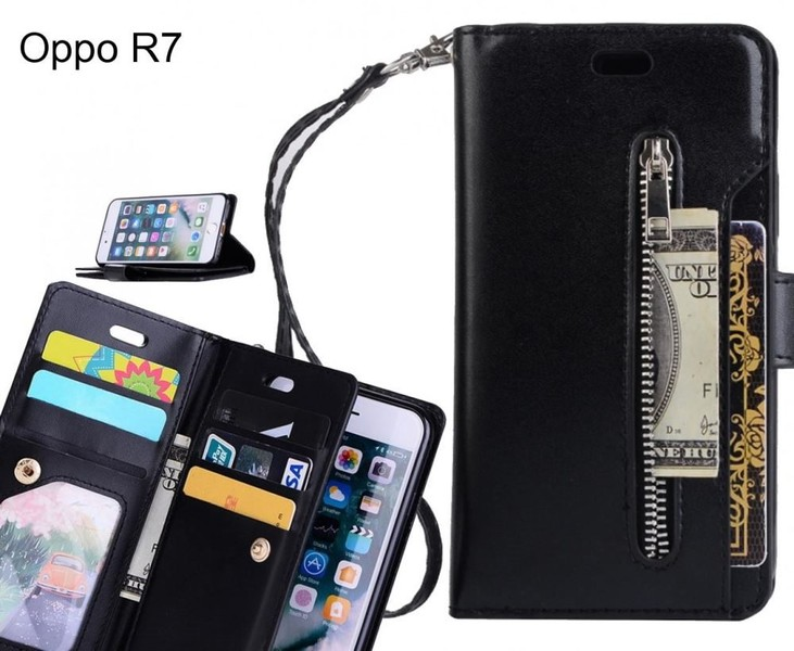the best attitude e3cd1 a36d9 Oppo R7 case multi functional wallet case