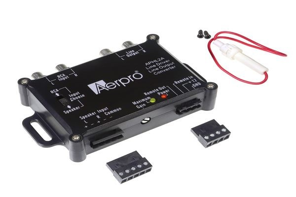 AERPRO APHL2A 2 CHANNEL LINE OUT CONVERTER HI TO LOW & RCA