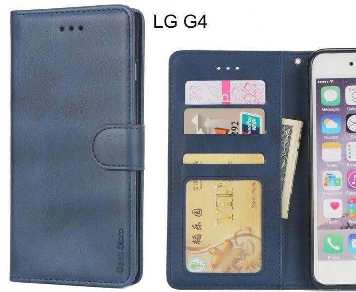 newest 2a5bb 0d978 LG G4 Case Wallet Leather Vintage Flip Folio Case