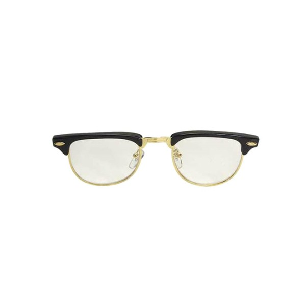 Nerdy Soho Glasses With Black and Gold Frames Malcolm X 50\'s 60\'s ...