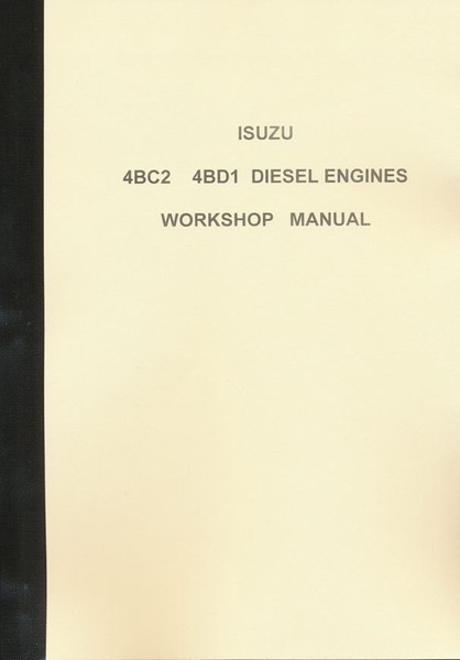 ISUZU 4BC2 4BD1 DIESEL ENGINES WORKSHOP MANUAL