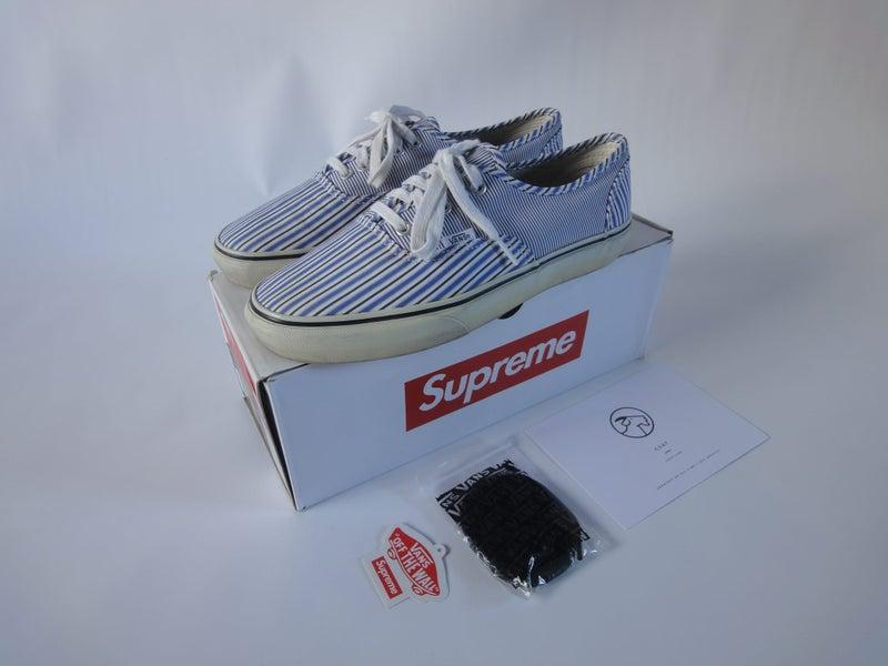 6097eb660482 Supreme x CDG x Vans Authentic sz US 8.5   Trade Me