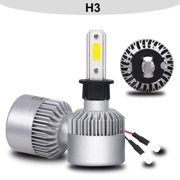LED Fan Cooled Super Bright 6500K White H3 Headlight Bulb   Trade Me
