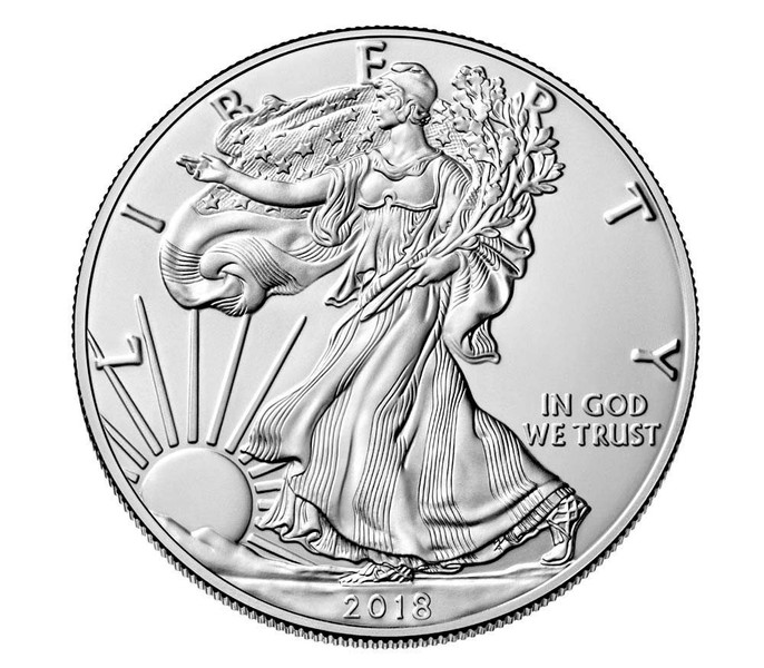 ***LIMITED OFFER*** 2018 American Silver Eagle GEM BU 0 999 Pure Silver