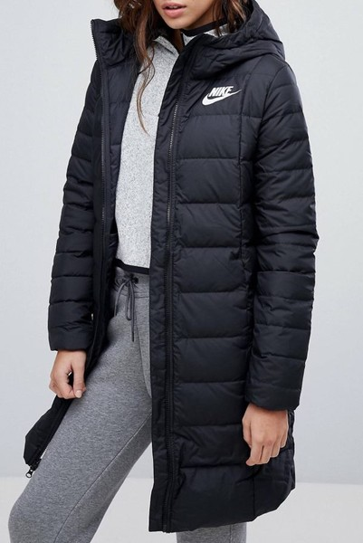 f8f39bee9f Nike down fill insulated long padded jacket xs