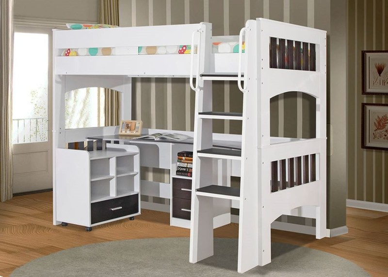 the latest acb86 aa050 Miami King Single Loft Bunk With Desk & Mobile Unit - ***2nds Set*** Crazy  $699