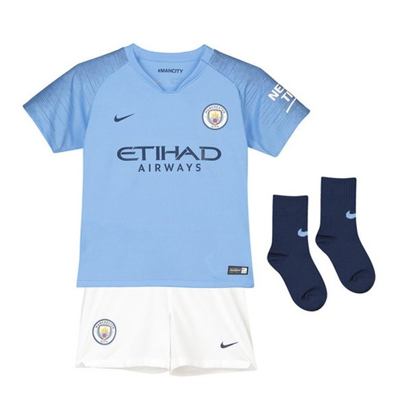 344ed9643d4 2018-2019 Man City Home Nike Little Boys Mini Kit