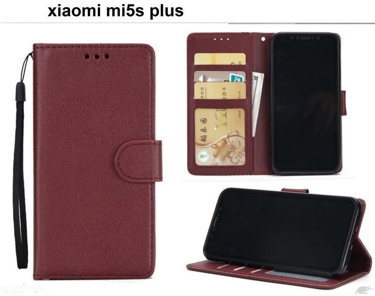 new product 09a28 65749 xiaomi mi5s plus premium PU leather wallet case w 3 card slots & pocket wn