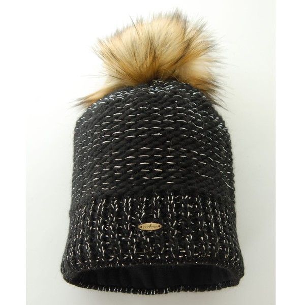 ae081a92 Starling Nicole Beanie Bobble Hat With Silver Flecks Of Thread Black |  Trade Me