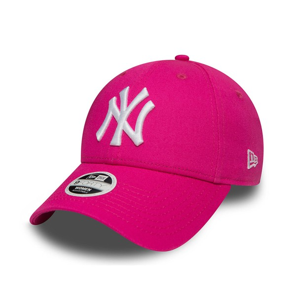 New Era MLB Womens Fashion Essential New York Yankees Cap Pink White OSFA  81d12d31c62