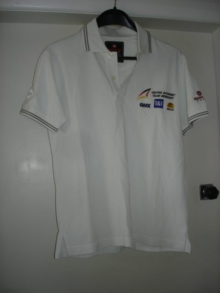 outlet store 09c2d ed79e Murphy & Nye mens crew cream polo size small