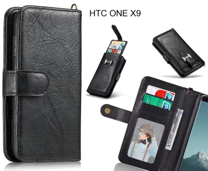 new style 40424 4ff02 HTC ONE X9 Case Premium Multifunction Wallet Leather Case
