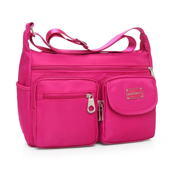 b2553ca9cf87 Women Messenger Bags Outdoor Sport Travel Shoulder Bag Multi-Pockets  Rainproof