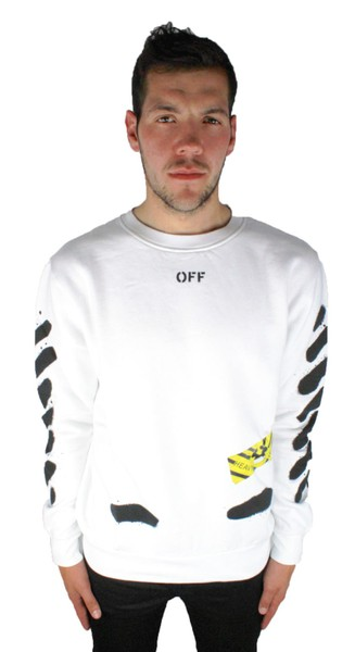 e6003d6db Off-White Diag Spray Crew Neck OMBA003 S17192023 0110 Jumper | Trade Me