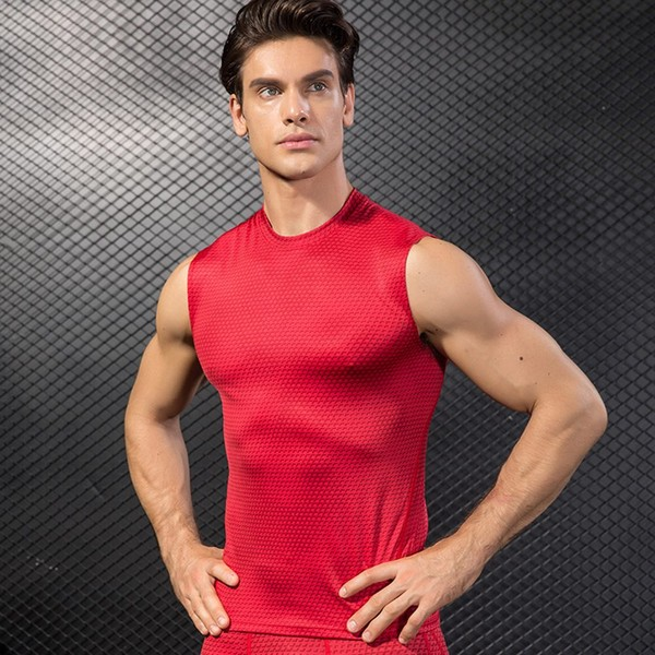 f2a9e58402 Summer Men Compression Sports Vests Gym Fitness Tank Tops Athletic Training  Vest